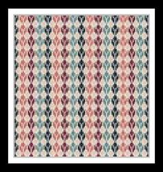 Seamless geometric multicolored native pattern vector image
