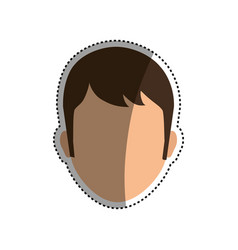 man faceless head vector image