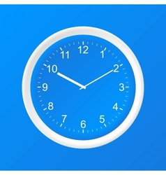 Clock 3d paper icon vector