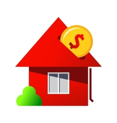 Investing in home purchase sign vector