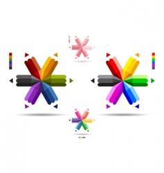 pencil logos vector image