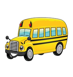Funny school bus vector