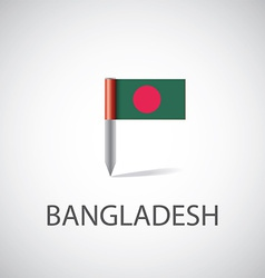 Bangladesh flag pin vector