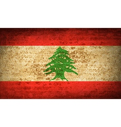 Flags lebanon with dirty paper texture vector