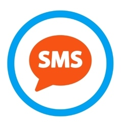 Sms rounded icon vector