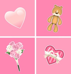 Valentine ornaments vector