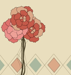 Retro-flower vector