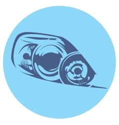 a car headlight vector image