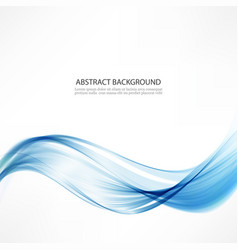 abstract backgroundwaves and a blue line vector image