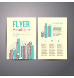 Abstract Brochure Flyer design about hous vector image