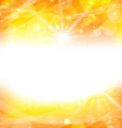 abstract orange background with sun light rays - vector image