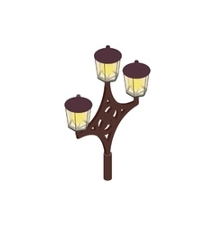 An ornate lamp post icon isometric 3d style vector