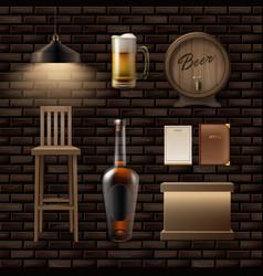bar pub stuff vector image vector image