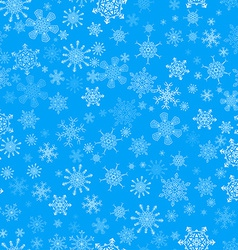 Blue seamless Christmas pattern with different vector image