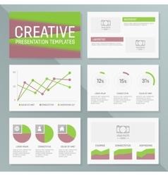 business presentation template slides vector image vector image