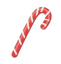 Candy Cane icon Isolated on white vector image vector image