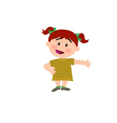 cartoon character girl showing vector image vector image