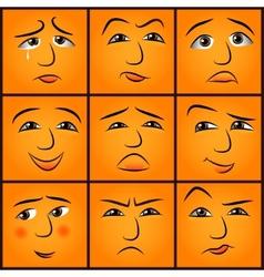 cartoon emotions set vector image