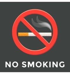 color no smoking label vector image