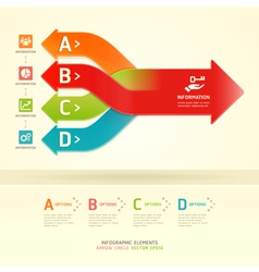 Colorful modern arrow circle number options banner vector