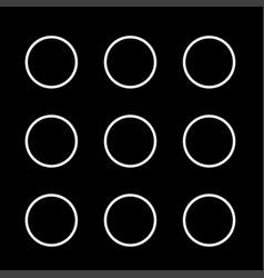 dial button white color icon vector image