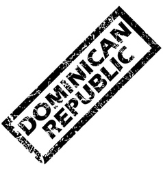 Dominican republic rubber stamp vector