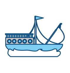 Fishing ship boat vector
