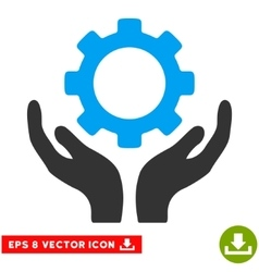 Gear maintenance hands eps icon vector