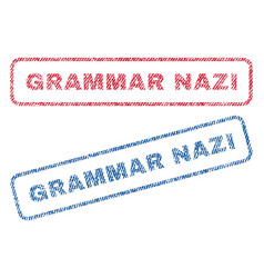 Grammar nazi textile stamps vector