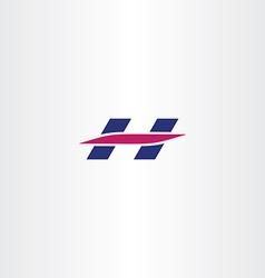 H letter logotype logo h icon vector