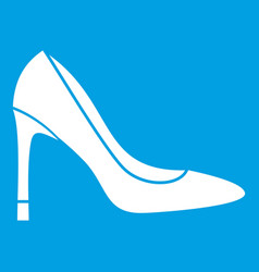 High heel shoe icon white vector