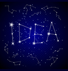 idea word on night sky pop art vector image vector image