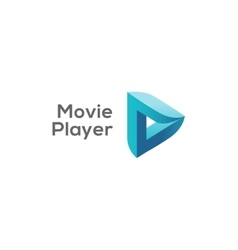 Movie player logo concept play logotype vector image vector image