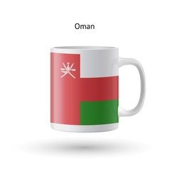 Oman flag souvenir mug on white background vector