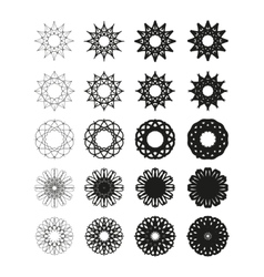 Round emblems vector image vector image