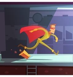 Running superhero vector