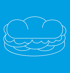 Sandwich icon outline style vector