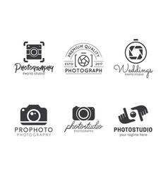 Set of photography logo vector