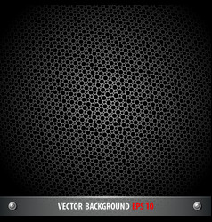 stainless steel stencil circle on black background vector image vector image