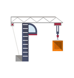 Tower port crane isolated icon vector