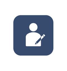 User icon - edit modify user icon vector