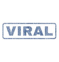 Viral textile stamp vector