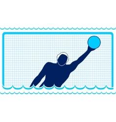 Waterpolo goalkeeper vector
