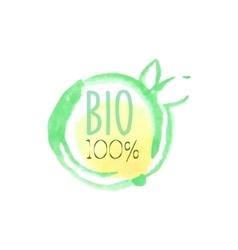 Percent bio fresh products promo sign vector