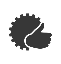 Gear ecology silhouette design vector