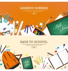 Back to school flat style vector