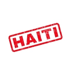 Haiti Text Rubber Stamp vector image