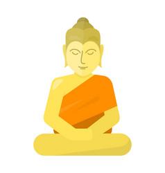 Thai god buddha isolated on white vector