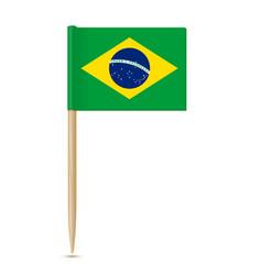 Brazil flag toothpick 10eps vector