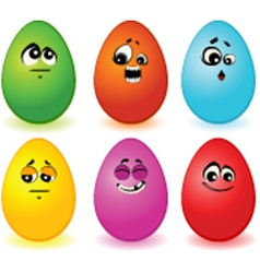 Eggs faces vector image